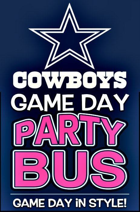 Cowboy Game Party Bus transportation