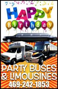Happy Birthday Limo Party Bus
