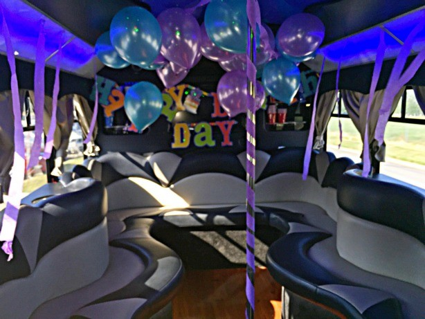 Party Bus Birthdays Decoration Package Limo Dallas Fort Worth DFW