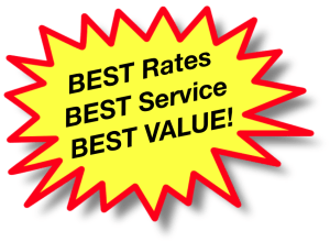 Best Rates, Best Customer Service, Best Value