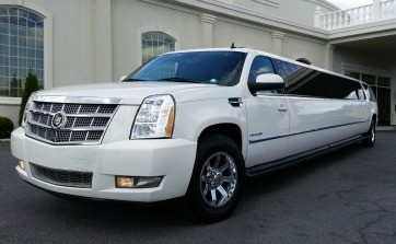 White Escalade Limo Limousine Dallas DFW Fort Worth