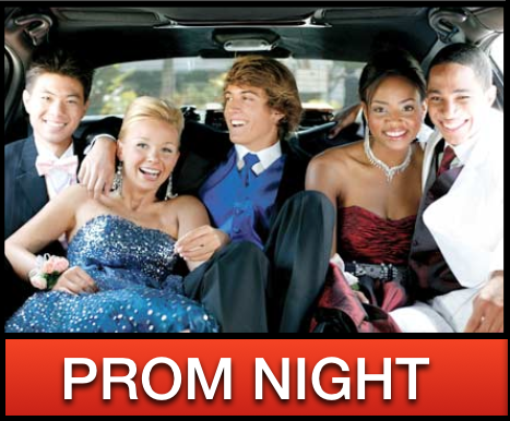 Prom night limo party bus