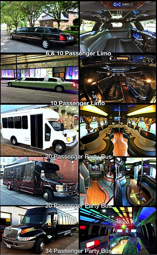 Quinceanera birthday Party Bus Limo