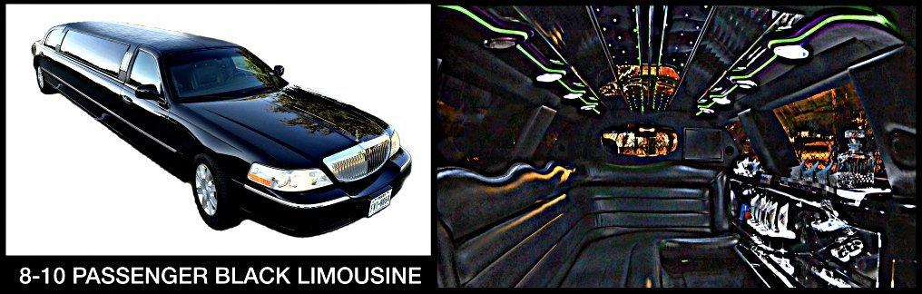 8-10 Pass Black Limousine