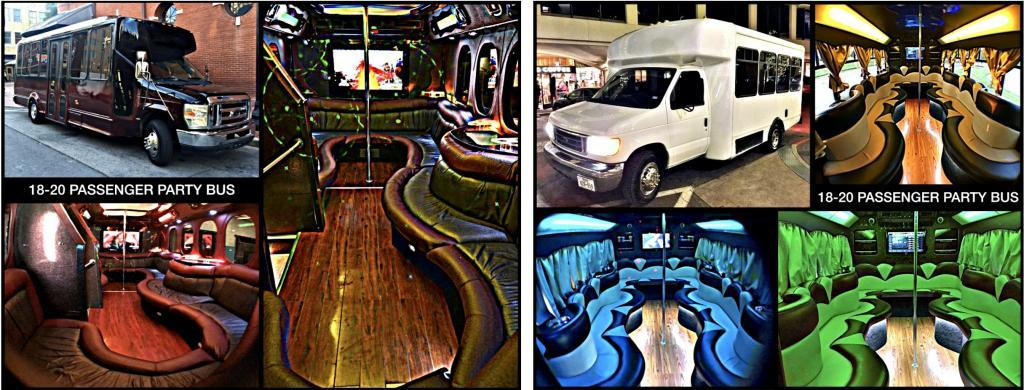 18-20 Passenger Limo Party Bus
