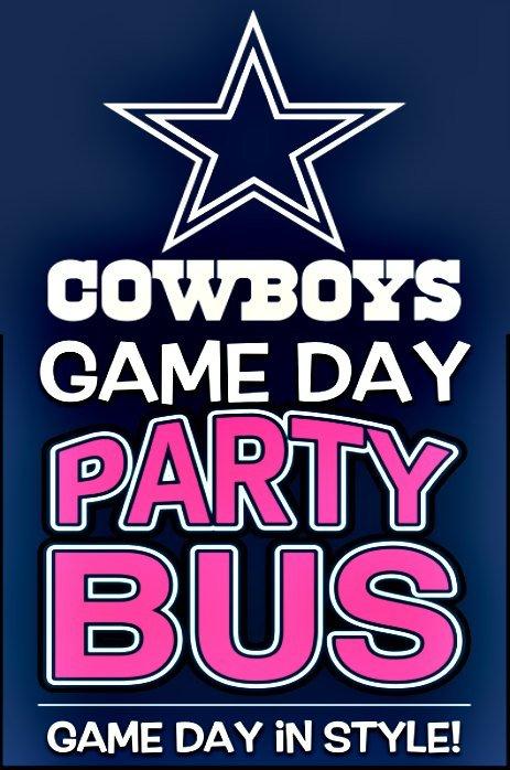 Cowboy Game Party Bus transportation