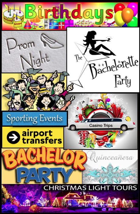Our Services Limo Party Bus DFW Weddings Bachelorette parties birthdays wine tours sporting evnts
