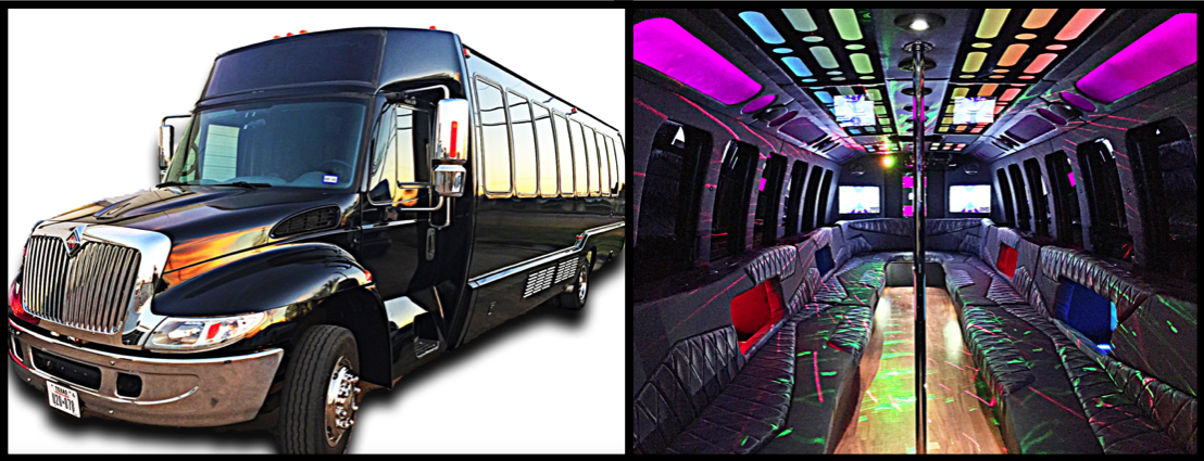 32 Pass Party Bus Dallas Fort Worth Plano Frisco
