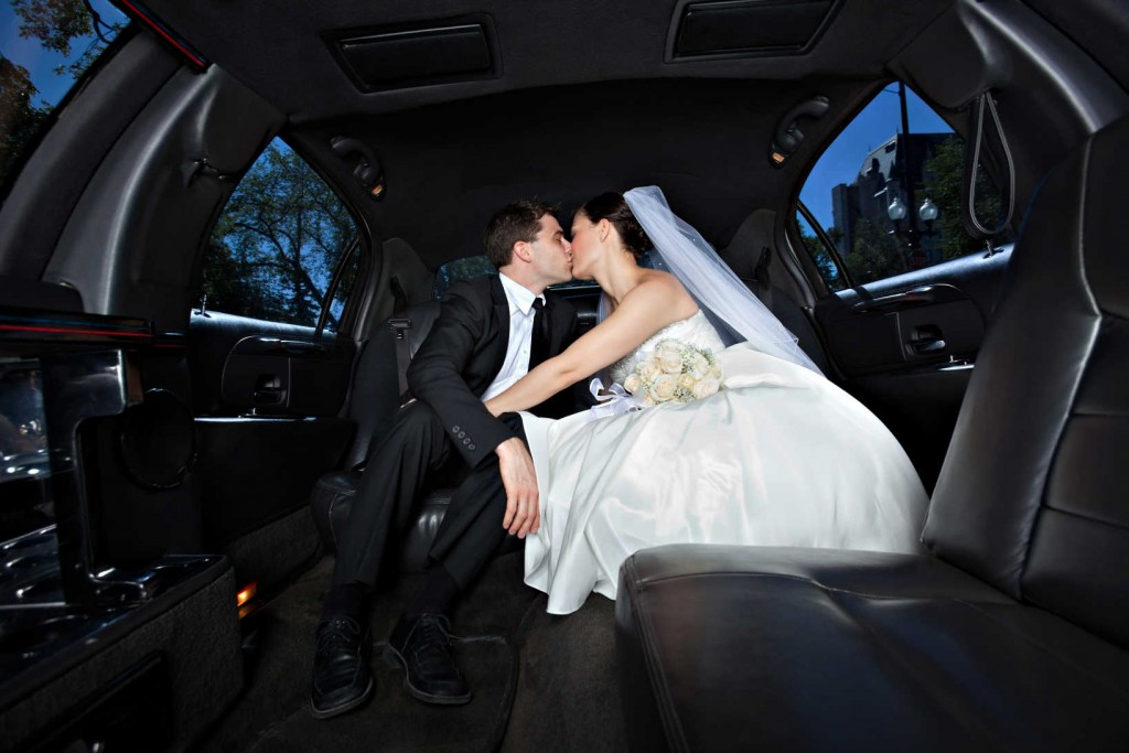 Wedding Party White Limo Transportation