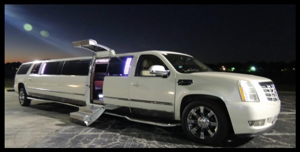 White Escalade Limousine